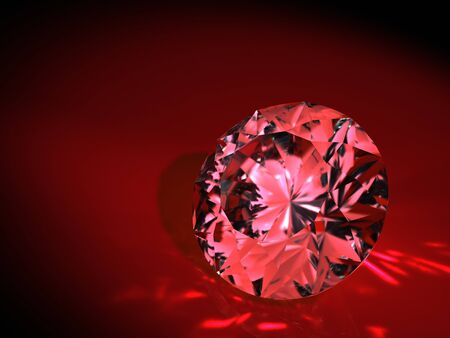 diamond on red background Stock Photo - 8548217