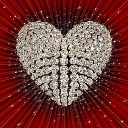 diamond's heart Stock Photo - 8548232