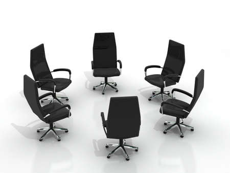 chairs arranging round isolated on white background Stock Photo - 8548163