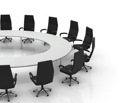conference table and chairs isolated on white background Stock Photo - 8548167