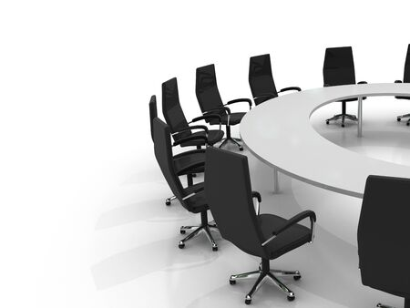 conference table and chairs isolated on white background Stock Photo - 8548168