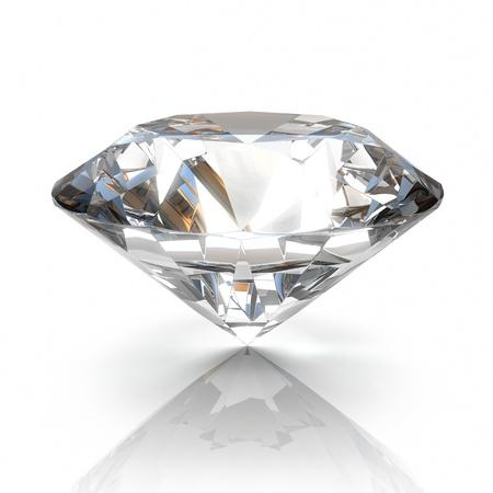 luxe: Diamond isol� sur fond blanc - 3d render Banque d'images