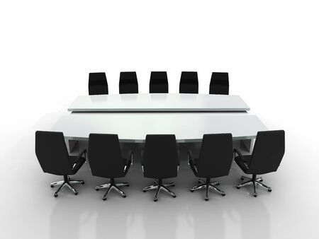 conference table and chairs isolated on white background Stock Photo - 8548240