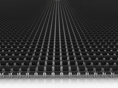 empty large hall with chairs Stock Photo