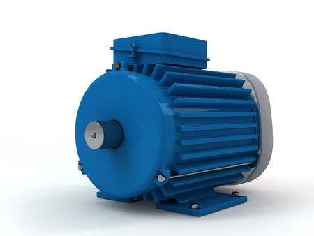 three-phase asynchronous electric motor on a white background 免版税图像