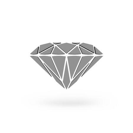 Diamond Icon Isolated white background.