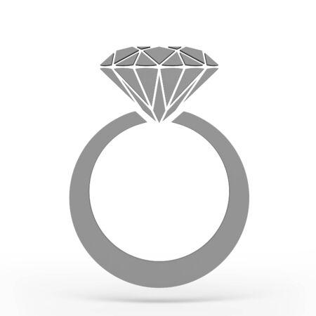 anillo de boda: aislado regalo del anillo de bodas. Hasta cerca de un anillo de oro blanco con diamantes.