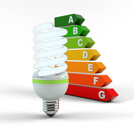 Ecology environment and saving energy, fluorescent light bulb concept of successful business.