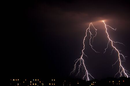 electrifying: Lightning a thunder-storm,