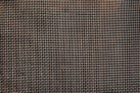 Invoice of old metallic net, texture photo