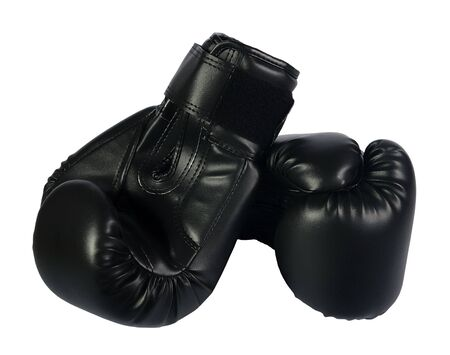 black boxing-gloves on a white background photo