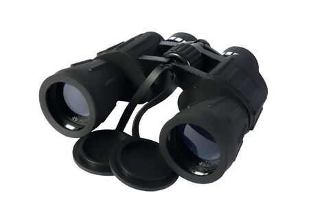 Binoculars on a white background photo