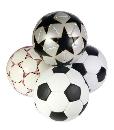 soccer ball on a white background. (isolated) photo