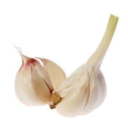garlic on a white background. (isolated) photo