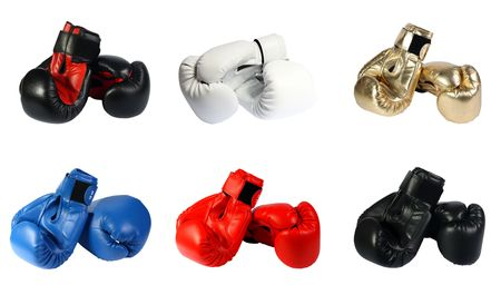 boxing-gloves on a white background. (isolated) photo
