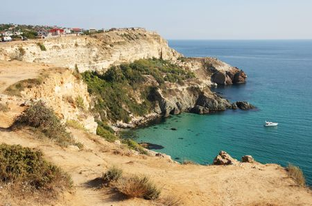 rock the Black Sea, point Fiolent, peninsula of Crimea, Ukraine photo