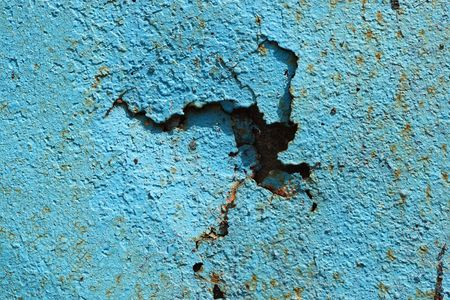 texture of the old rusty metal with a crack of blue Stock Photo - 5693497