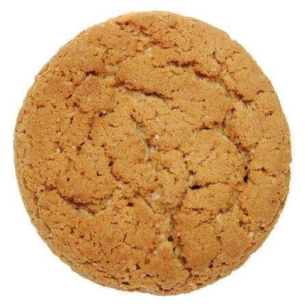 Oatmeal cookies on the white background photo