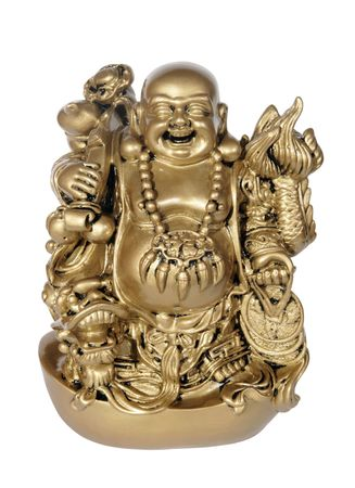 Statuette of Hotei (Buddha) on the white background Stock Photo - 6647791