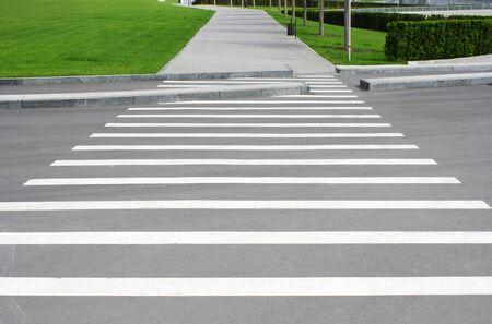 paso de cebra: Paso de peatones en el Parque de recreación