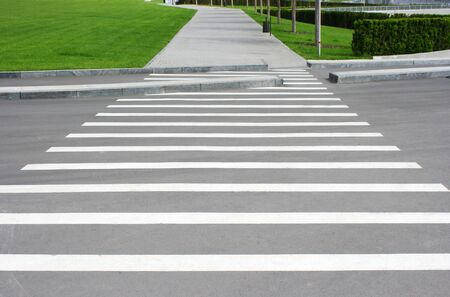 Pedestrian crossing in the park recreation photo