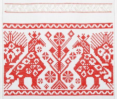 slavs: Ukrainian embroidery, towel, background, texture
