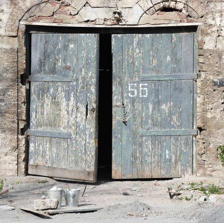 Old wooden door, background photo