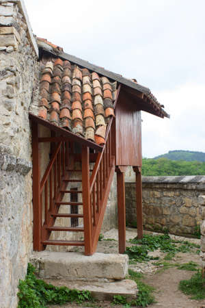 Kenesa - Karaite prayer houses Chufut-kale, Bakhchisaray, Crimea, Ukraine XIV centuries photo