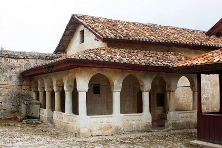 Kesa - Karaimische Gebet-Häuser Tschufut-Kale, Bachtschyssaraj, Krim, Ukraine XIV Jahrhunderte  Lizenzfreie Bilder - 7345837