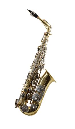 Sax musical instrument on tne white background Stock Photo - 7249894