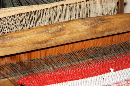 Old Russian loom of 18 centuries photo