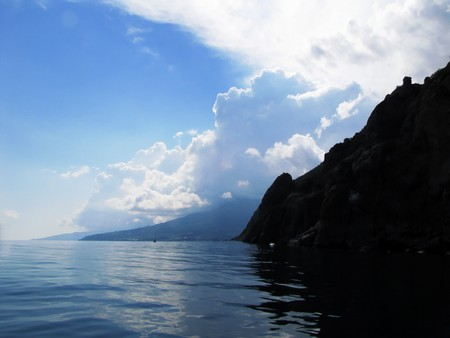rock the Black Sea peninsula of Crimea, Ukraine                                photo