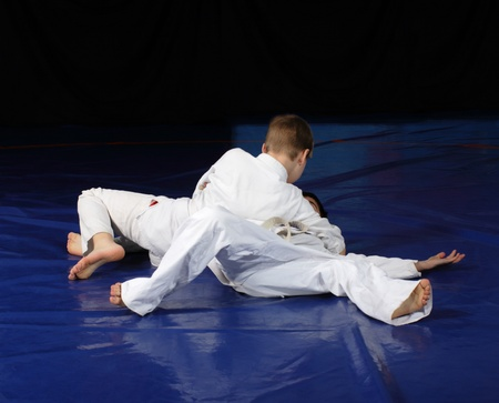 Judo fighting competition Stock Photo