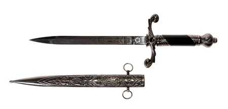 Model of the old dagger with a white background, souvenir
