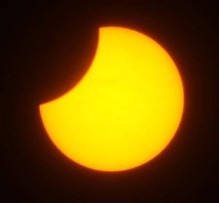Solar eclipse for a background 1.08.08. Ukraine, Donetsk region Stock Photo