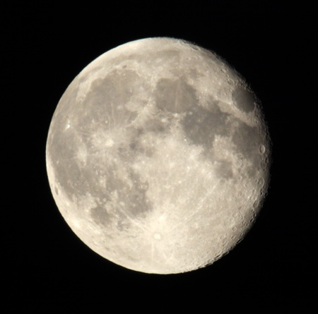 Phase of the moon on a dark sky. Ukraine, Donetsk region 18.06.11