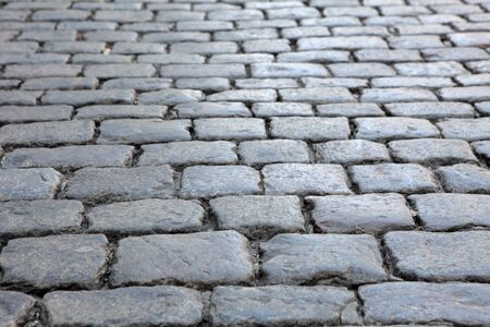 Texture of the old block pavement, background photo