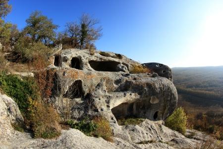 Mountain  Cave city Eski-Kermen, Crimea, Ukraine VI-XIV centuries photo