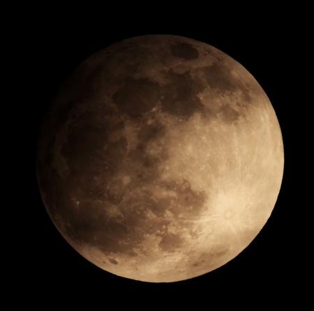 moon crater: Lunar eclipse for a background 25 04 13  Ukraine, Donetsk region Stock Photo