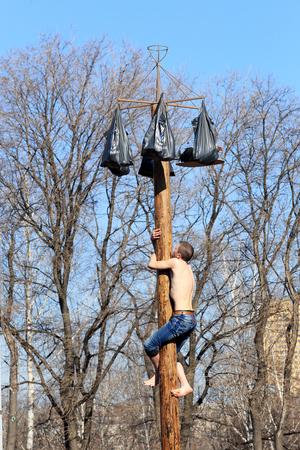 maslenitsa: DONETSK - FEBRUARY 22: Celebrating Russian Maslenitsa festival in Donetsk. February 16, 2015 in Donetsk. Editorial