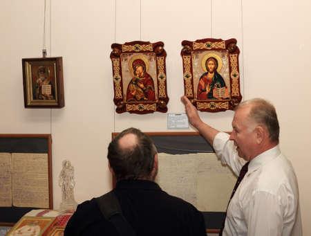ルーク: DONETSK - FEBRUARY 16: Opening of the exhibition St. Luke Crimea in ArtDonbass in Donetsk. February 16, 2015 in Donetsk