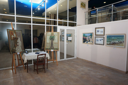 Luke: DONETSK - FEBRUARY 16: Opening of the exhibition St. Luke Crimea in ArtDonbass in Donetsk. February 16, 2015 in Donetsk
