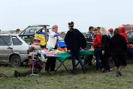 "turismo ecologico: Regi�n de Rostov, Rusia - 18 de abril: Festival Internacional de turismo ecol�gico ""Celebrado estepa"" en la regi�n de Rostov, Rusia. 18 de abril 2015. Editorial"
