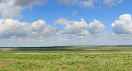 russia steppe: Movement of clouds in the steppe, the Rostov region, Russia.