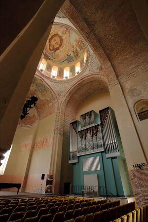 patriarchal: Cathedral organ. Interior of the Patriarchal Cathedral. Pitsunda, Abkhazia. Editorial