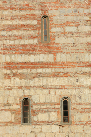 patriarchal: Texture of the wall Patriarchal Cathedral. Pitsunda, Abkhazia. Stock Photo