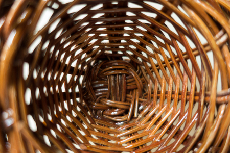 Close-up of small wicker basket Stock Photo
