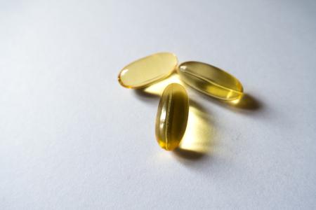 Three gelly caps of evening primrose oil