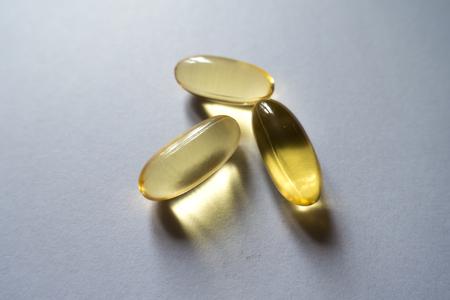 Three softgels of evening primrose oil supplement