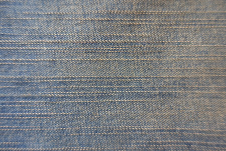 Aged slate blue jeans fabric from above